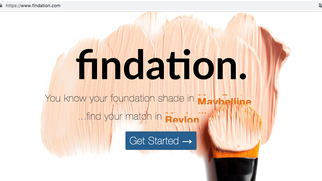 Site que ajuda a escolher o tom da base   Findation