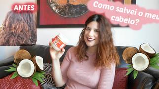 Umectação com ÓLEO DE CÔCO | Como salvei o meu cabelo #01