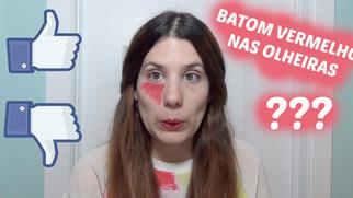 BATOM VERMELHO para esconder OLHEIRAS FUNCIONA??? + Actualização página do FACEBOOK