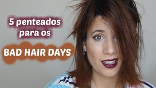 5 penteados para os BAD HAIR DAYS | Cabelos curtos