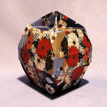 Lamp Bowl - Knob, Asian Floral Blue