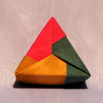 Triangle - Plain, Fuchsia Gold Green