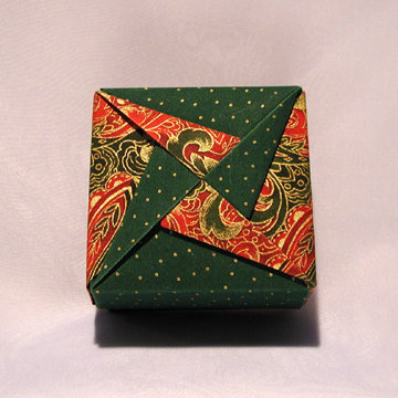 Square - Pinwheel, Holiday Paisely and Dots Green