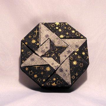 Octagon - Double Stars, Gold Stars on Navy