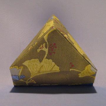 Triangle - Pyramid, Blue and Green Gingkos