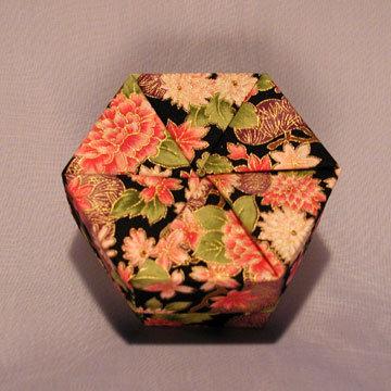 Hexagon - Plain, Asian Floral