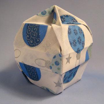 Lamp Bowl - Knob, Blue Ornaments