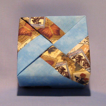 Square - Windmill, World Stamps and Sky Blue