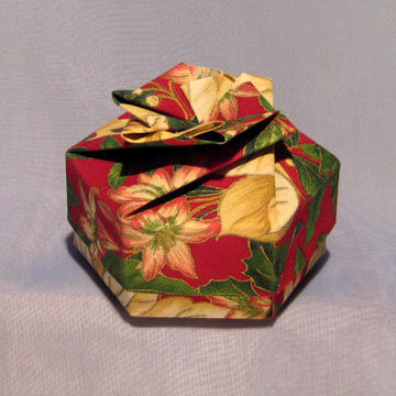 Hexagon - Bow, Holiday Flowers