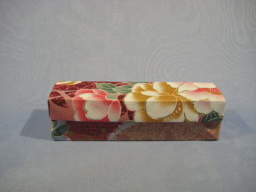 Rectangle - Hinged, Asian Floral Pink