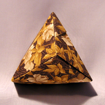 Triangle - Pyramid, Golden Flowers