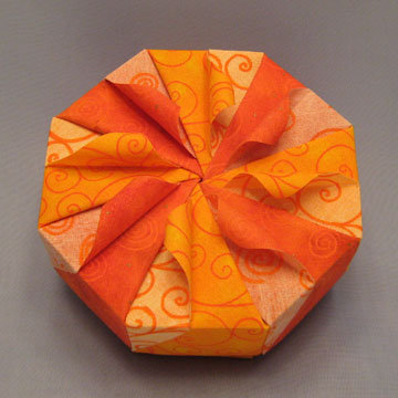 Octagon - Curls, Yellow and Orange Swirls