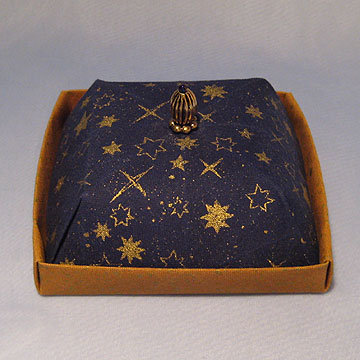 Square - Cake Box, Gold Stars on Navy
