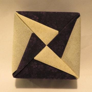 Square - Pinwheel, Glistening White and Purple