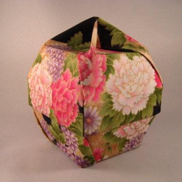 Lamp Bowl - Knob, Asian Flowers