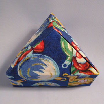 Triangle - Pyramid, Ornaments on Blue