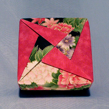 Square - Pinwheel, Asian Floral and Fuchsia