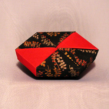 Polygon - Bow Tie, Red and Golden Leaves on Black