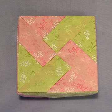 Square - Windmill 2, Pink and Green Floral
