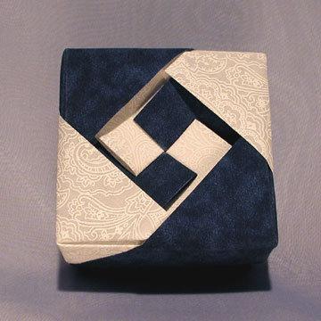 Square - Lozenge, White and Blue