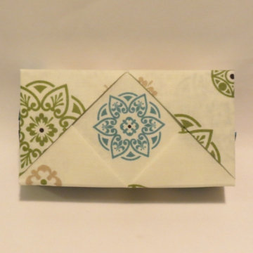 Rectangle - Matchbox, Teal Rosettes