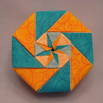 Octagon - Star Center, Blue and Yellow Swirls