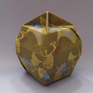 Lamp Bowl - Knob, Blue and Green Gingkos