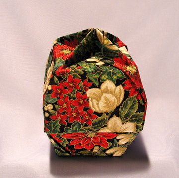 Lamp Bowl - Knob, Holiday Flowers