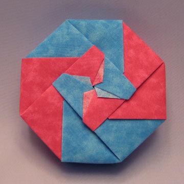 Octagon - Bi-color Pinwheel, Fuchsia and Blue