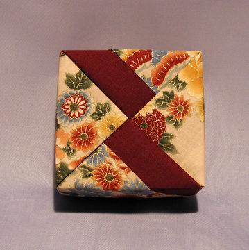 Square - Bands, Asian Floral and Burgundy