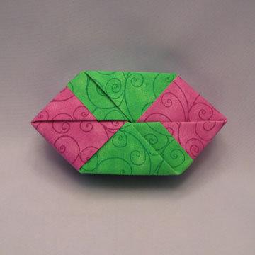 Polygon - Double Diamonds, Purple and Green Swirls