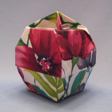 Lamp Bowl - Knob, Tropical Hibiscus