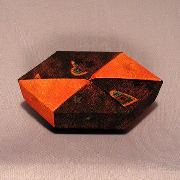 Polygon - Bow Tie, Hearts on Purple and Orange Swirls