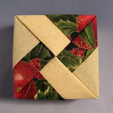 Square - Windmill, Red Holly Ornaments