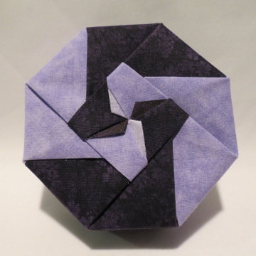 Octagon - Bi-color Pinwheel, Light and Dark Purple