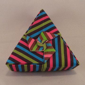 Triangle - Pinwheel, Pink, Green, Blue Stripes