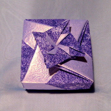 Square - Bow, Purple Floral
