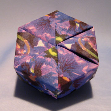 Hexagon - Plain, Purple Pansies