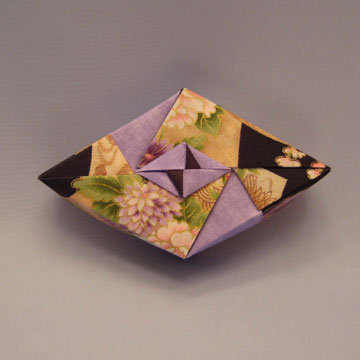 Rhombus - Diamond, Asian Floral and Violet