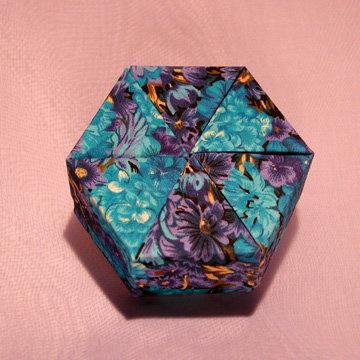 Hexagon - Plain, Blue Violet Floral