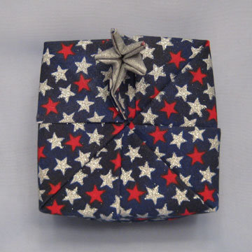 Square - Star, Silver and Red Stars on Navy