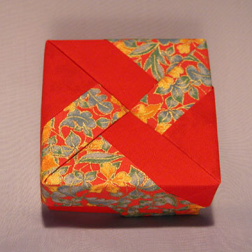 Square - Windmill, Red and Gold Floral on Red