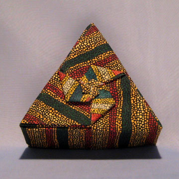 Triangle - Pinwheel, Red Yellow Green Stripes