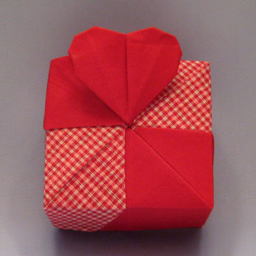 Square - Heart, Checker Red Patchwork