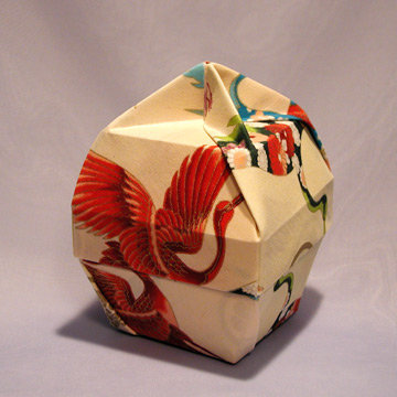 Lamp Bowl - Knob, Four Cranes