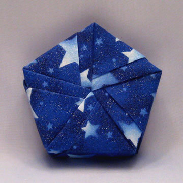 Pentagon - Ribbon, Blue Stars
