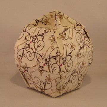 Lamp Bowl - Knob, White Chocolate