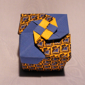 Cube - Vortex, Yellow and Blue Leaves
