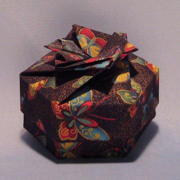Hexagon - Bow, Gold Dust Butterflies