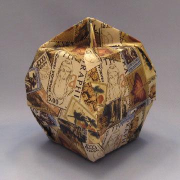 Lamp Bowl - Knob, World Stamps